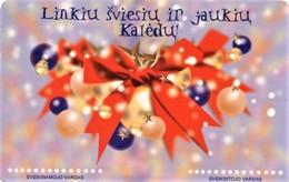 *LITUANIA* - Scheda A Chip Usata - Christmas