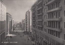 NAPOLI-VIA DIAZ-CARTOLINA VERA FOTOGRAFIA VIAGGIATA  IL 28-5-1949 - Napoli