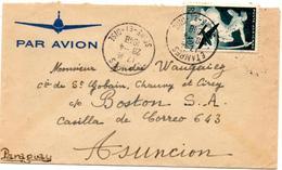 Lettre Par Avion De Etampes (28.04.1948) Pour Ascuncion Paraguay Centaure - Poste Aérienne
