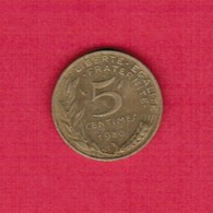FRANCE  5 CENTIMES 1980 (KM # 933) #5264 - France
