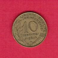 FRANCE  10 CENTIMES 1963 (KM # 929) #5265 - France