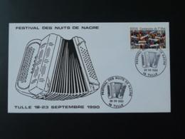 Lettre Cover Festival Accordéon Accordion Tulle 19 Correze 1990 - Musique