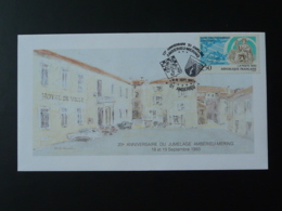 Lettre Cover 20 Ans Jumelage Mering Amberieu En Bugey 01 Ain 1993 - France