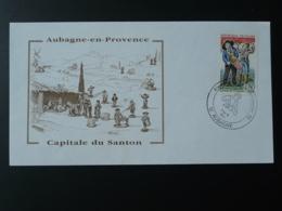 Lettre Cover Santon De Provence Aubagne 13 Bouches Du Rhone 1996 - France