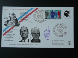 Lettre Cover Hommage Préfet Erignac Jacques Chirac Lionel Jospin Ajaccio Corse 1998 - France