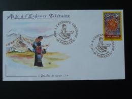 Lettre Cover Enfance Tibétaine Childhood Of Tibet Perouges 01 Ain 1999 - Non Classés