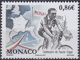 2019 MONACO   ** MNH Vélo Cycliste Cyclisme Bicycle Cycling Fahrrad Radfahrer Bicicleta Ciclista Ciclismo [ee81] - Ciclismo