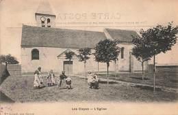 § 78 Les Clayes Sous Bois Eglise Cpa Carte Animée Enfants Jouant à Saute Mouton - Les Clayes Sous Bois