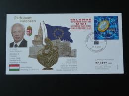 Lettre Cover Allocution Président Hongrie Hungary + Referendum Irlande Session Parlement Européen Strasbourg 2002 - Institutions Européennes