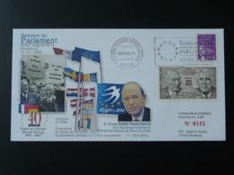 Lettre Cover Visite Premier Ministre Grece Greece Session Parlement Européen Strasbourg 2003 - Institutions Européennes