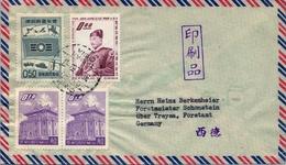 1962 , TAIWAN ( FORMOSA ) , SOBRE CIRCULADO , TAICHUNG - SCHOTTENSTEIN , CORREO AÉREO - 1945-... República De China
