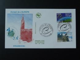 FDC Conseil De L'Europe Timbres De Service 2007 - FDC