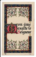 Image Pieuse Mon âme Exalte Le Seigneur Enluminure Chromo Dorures Holy Card Santino - Images Religieuses