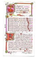 Image Pieuse Seigneur Faites De Moi Un Instrument... Enluminure Chromo Dorures Holy Card Saint François D'Assise Santino - Images Religieuses
