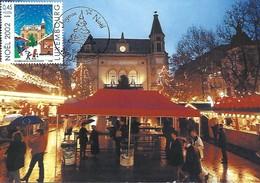 16.12.2002  -  Luxembourg  Place D'Armes - Le Marché De Nöel  Photo Teddy Jaans L.W.   Impr. Fernand Quintus,Luxembourg - Maximum Cards