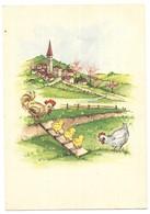 Illustrateur Stampata Italia Poule Coq Poussins Série 321/2 - Künstlerkarten