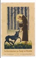 Image Pieuse Holy Card Santino Scoutisme Scout La Conversion Du Loup De Gubbio Très Rare - Santini