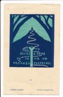Image Pieuse Holy Card Santino Scoutisme Scout Lucerna Ardens Illustré Par Fra Nodet Es-tu Décidé... - Santini