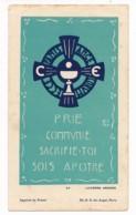 Image Pieuse Holy Card Santino Scoutisme Scout Lucerna Ardens Illustré Par Fra Nodet Prie Communie... - Santini