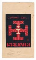 Image Pieuse Holy Card Santino Scoutisme Scout Lucerna Ardens Illustré Par Fra Nodet Comme Lui Servir - Santini