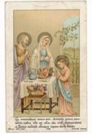 Image Pieuse Holy Card Santino Editeur Bonamy Chromo XIXe La Nourriture... Sainte Famille Bénédicités - Images Religieuses