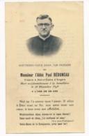 Image Pieuse Holy Card Santino Memento Mori Abbé Paul BEDUNEAU Vicaire Notre Dame D'Angers Mort à La Jumellière - Images Religieuses