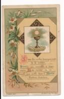 Image Pieuse Holy Card Santino Editeur MOREL Chromo Dorures Sous Les Voiles Transparents... Calice - Images Religieuses