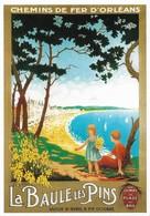 Affiche Chemins De Fer D'Orléans La Baule Les Pins (2 Scans) - Chemins De Fer