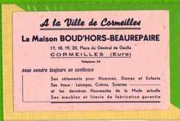 Buvard & Blotting Paper :A La Ville De CORMEILLES La MAISON BOURD'HORS BEAUREPAIRE CORMEILLES - Textile & Clothing