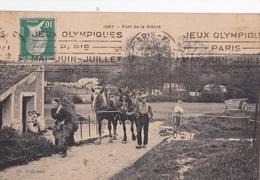 CPA /  Igny (91) Pont De La Bievre  Retour Des Champs  Ed Traboulet  Voyagée Rare Cachet JO Paris 1924 - Igny