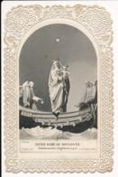 Image Pieuse Holy Card Santino XIXe Canivet Dentelle Notre Dame De Boulogne - Images Religieuses