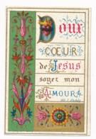 Image Pieuse Holy Card Santino XIXe Chromo Doux Coeur De Jésus - Images Religieuses