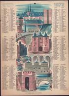 Luxembourg 1972, Calendrier Des Facteurs Des Postes, Grand Format, 2 Scans - Calendars