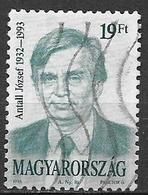 UNGHERIA 1993 JOZSEF ANTALL YVERT. 3440 USATO VF - Ungheria