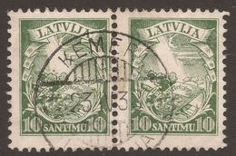 LATVIA. POSTMARK KEMERI. 10s PAIR USED. - Latvia