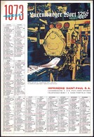 Luxembourg 1973, Calendrier Luxemburger Wort Imprimerie St.Paul, Grand Format, 2 Scans - Calendriers
