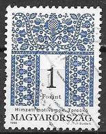 UNGHERIA 1995  SERIE CORRENTE MOTIVI DECORATIVI YVERT. 3488 USATO VF - Ungheria