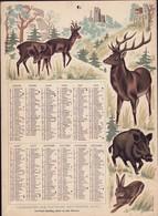 Luxembourg 1973, Calendrier Des Facteurs Des Postes, Grand Format, 2 Scans - Calendars