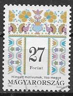 UNGHERIA 1997  SERIE CORRENTE MOTIVI DECORATIVI YVERT. 3582  USATO VF - Ungheria