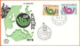 SAN MARINO - 1973 - Europa CEPT - FDC - Filagrano - 1973
