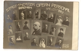 "370  - Stadt-Theater Aachen - Opern Personal - Spielzeit 1908-9 "" Atelier Feist"" - Opéra"