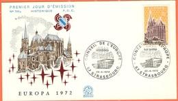 FRANCIA - France - 1972 - Europa Cept - FDC - Strasbourg - 1972