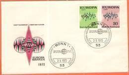 GERMANIA - GERMANY - Deutschland - ALLEMAGNE - 1972 - Europa Cept - Bonn - FDC - 1972