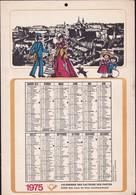 Luxembourg 1975, Calendrier Des Facteurs Des Postes, Grand Format  2 Scans - Calendriers