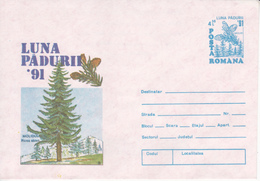 Roumanie , Romania  , 1991  , The Forest Moon ,  Pre-paid Envelope - Ganzsachen