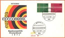 GERMANIA - GERMANY - Deutschland - ALLEMAGNE - 1971 - Europa Cept - Bonn - FDC - 1971