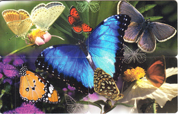 SOUTH AFRICA(chip) - Butterflies, Puzzle Of 4 MTN Telecards, Chip SC8, Used - South Africa