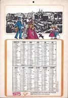 Luxembourg 1975, Calendrier Des Facteurs Des Postes, Grand Format,  2 Scans - Calendriers