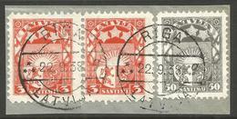 LATVIA. 1923. POSTMARK RIGA G ON PIECE. USED. - Latvia