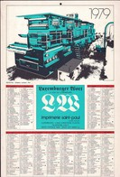 Luxembourg 1978, Calendrier Luxemburger Wort Imprimerie St.Paul, Grand Format, Rotative, 2 Scans - Calendriers